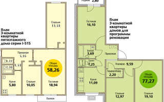 3-комнатная квартира по программе реновации в Москве